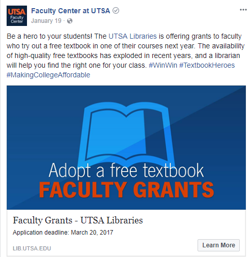Free Textbooks Social Media post