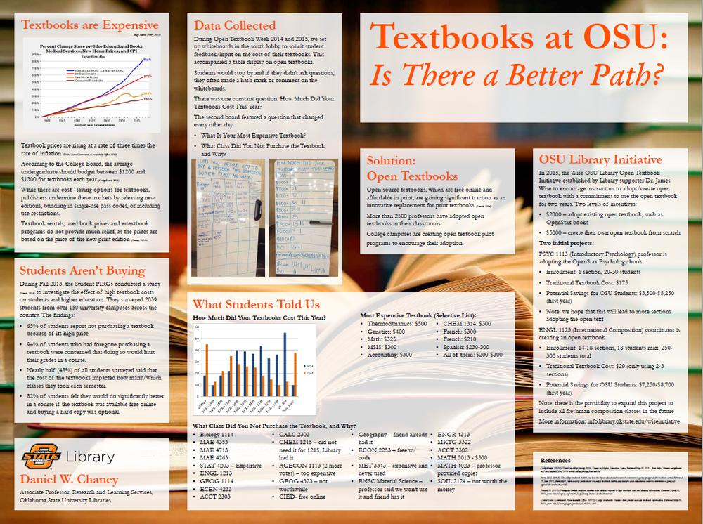 Plan for OSU's textbook program