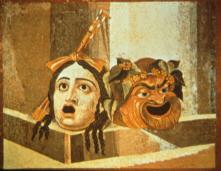 Mosaic depicting Roman Masks (click to see larger image)