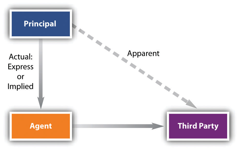 Chart showing relationship between principal and agent
