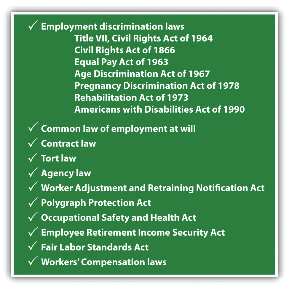 Checklist of employment law issues