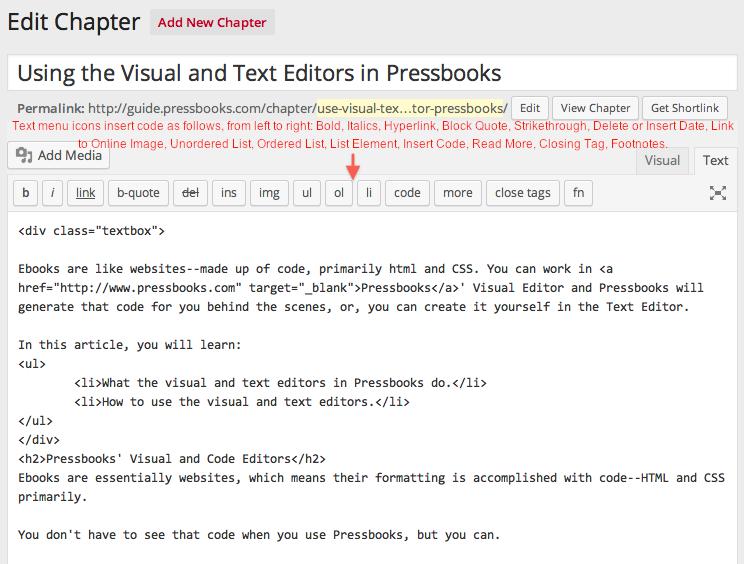 Text editor menu