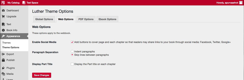 Theme Options Web
