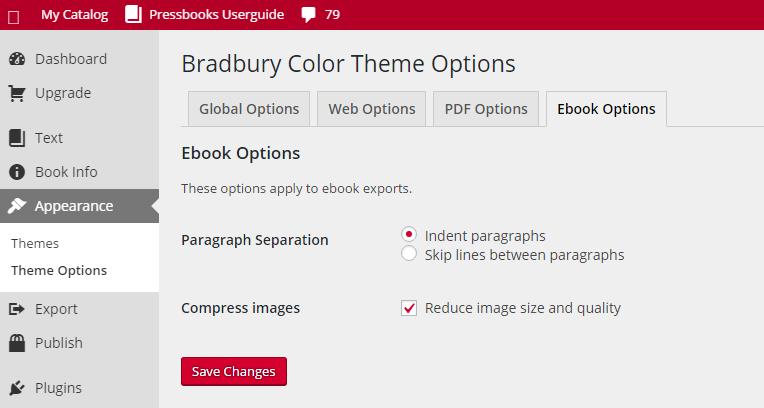 Ebook options
