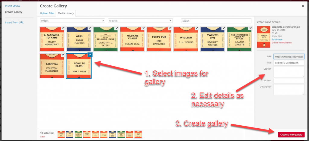 Creating a gallery