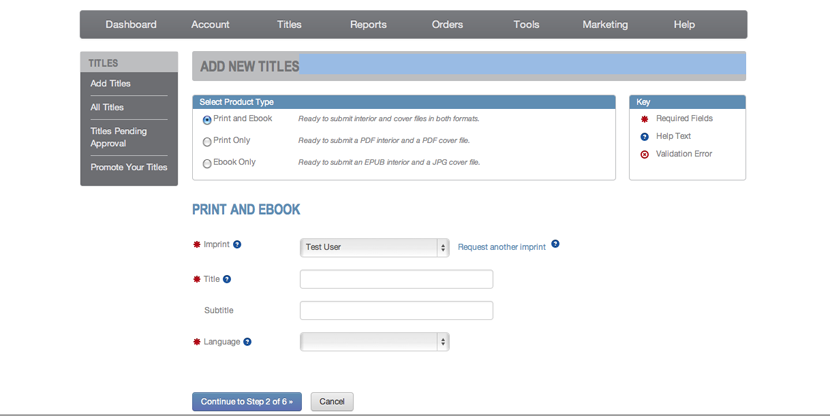 Adding a new book title