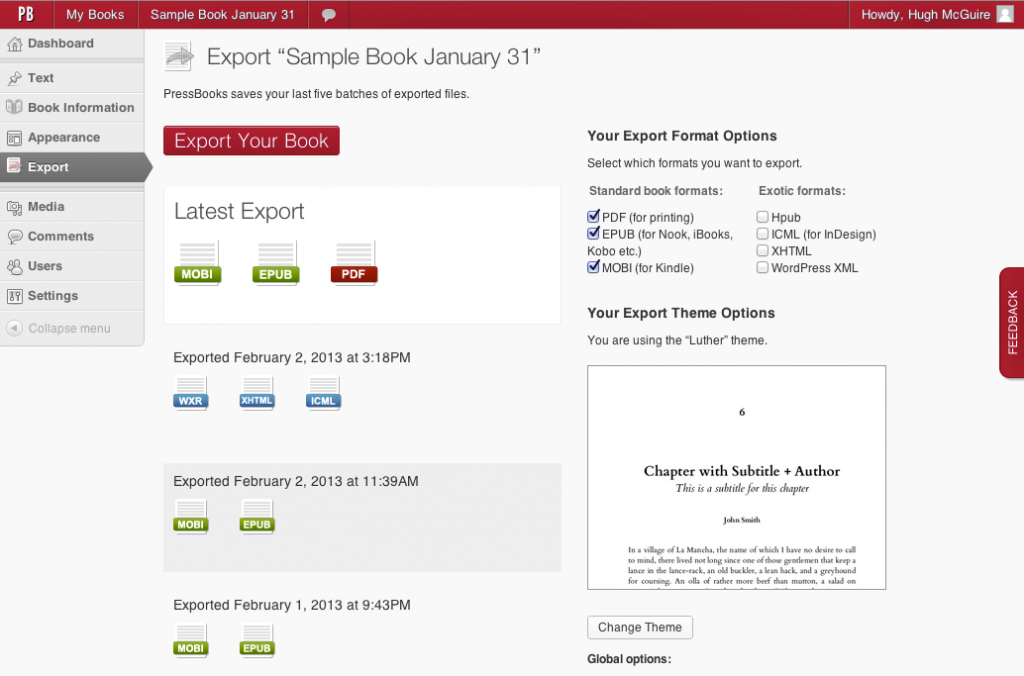 STEP 4. Export your book