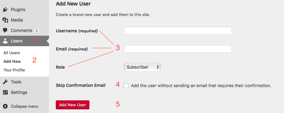 Add a new user through Users srcset=